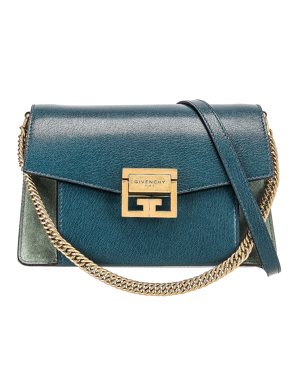 Image 1 of Givenchy Small Leather GV3 in Blue & Pistachio