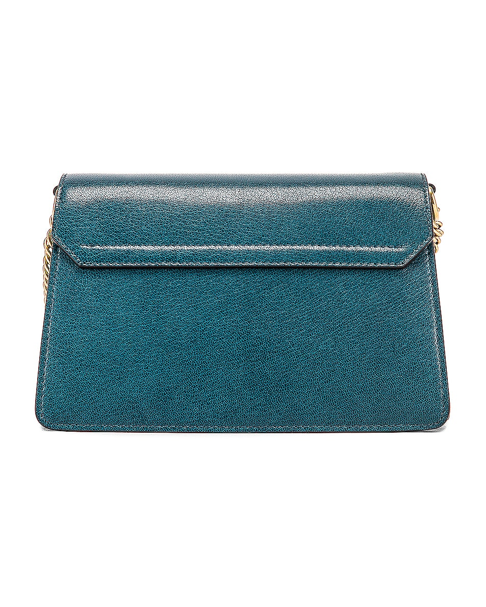 Image 3 of Givenchy Small Leather GV3 in Blue & Pistachio