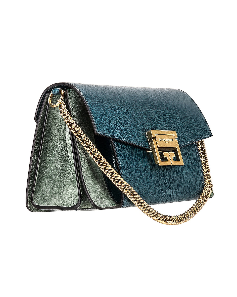 Image 4 of Givenchy Small Leather GV3 in Blue & Pistachio