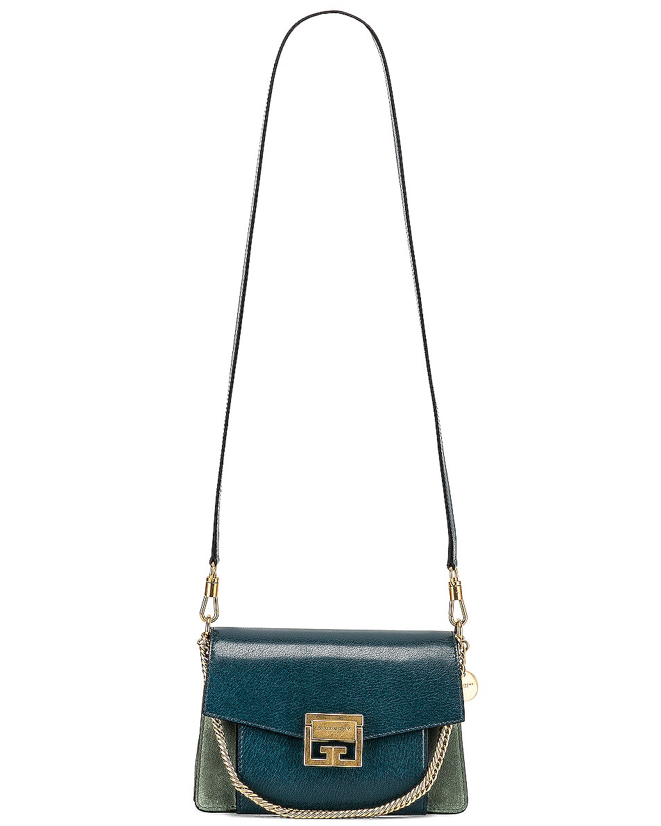 Image 6 of Givenchy Small Leather GV3 in Blue & Pistachio