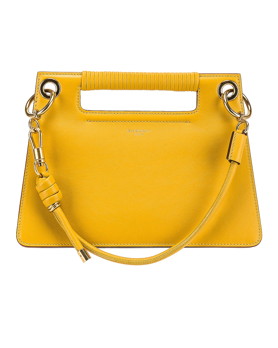 durable modeling Givenchy Small Whip Bag Yellow Curry