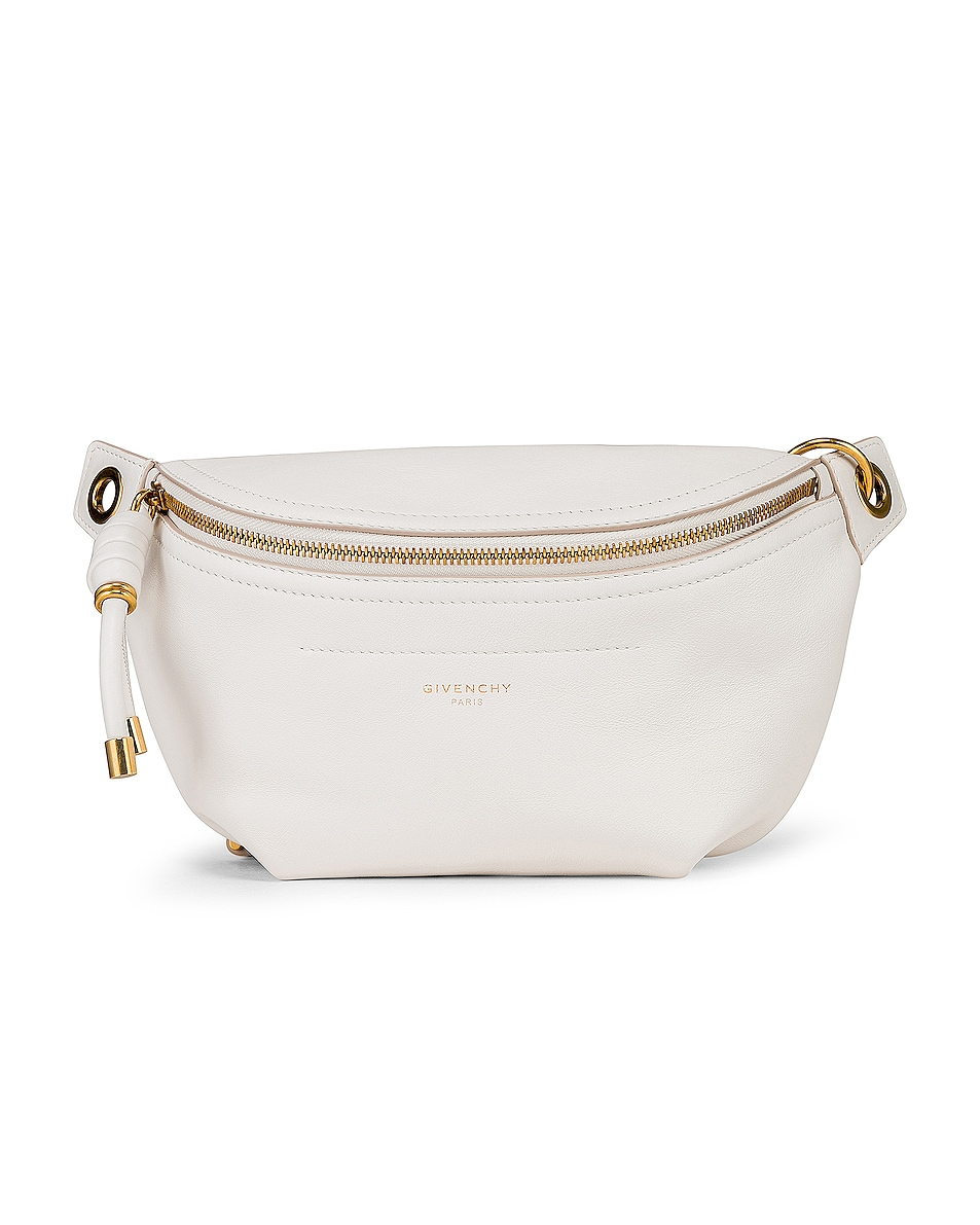 Image 1 of Givenchy Whip Chain Belt Bag in Off White