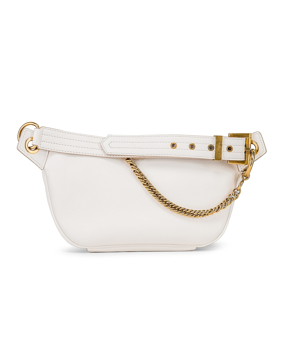 Image 3 of Givenchy Whip Chain Belt Bag in Off White
