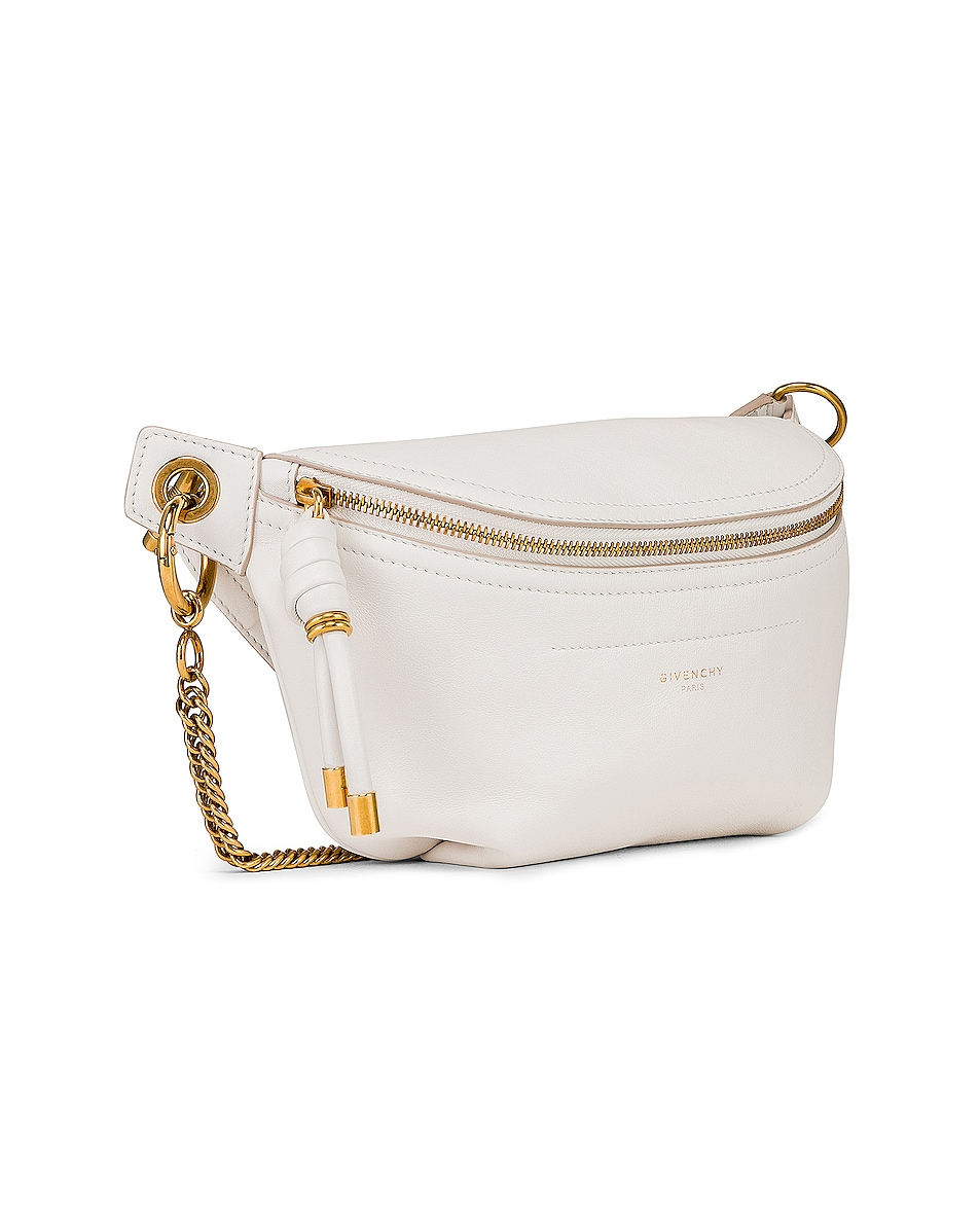 Image 4 of Givenchy Whip Chain Belt Bag in Off White