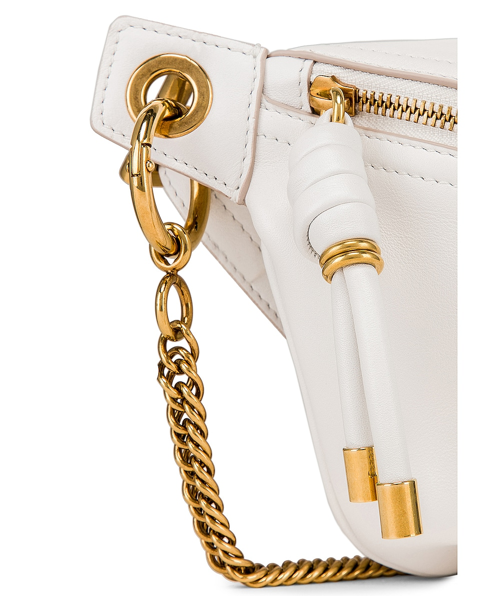 Image 7 of Givenchy Whip Chain Belt Bag in Off White