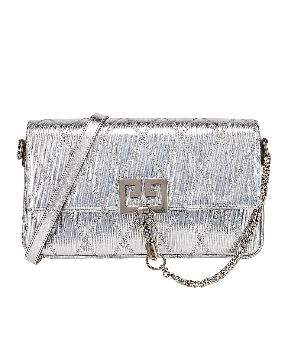 Image 1 of Givenchy Small Charm Shoulder Bag in Silver