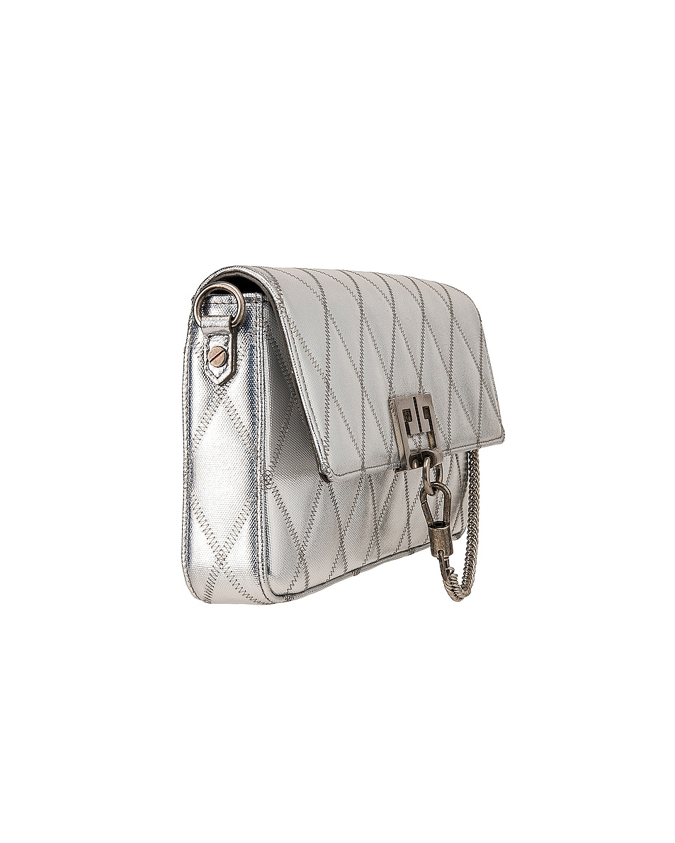Image 4 of Givenchy Small Charm Shoulder Bag in Silver
