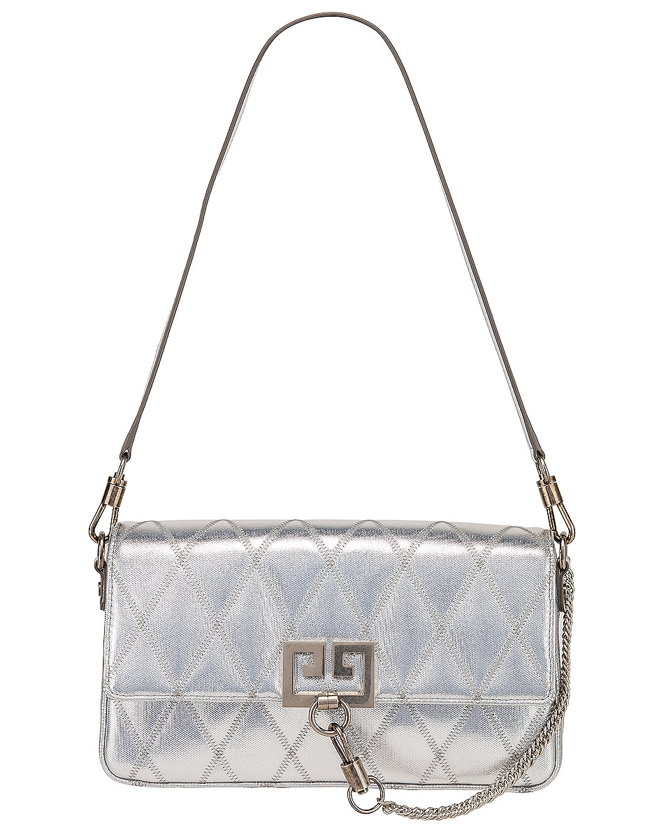 Image 6 of Givenchy Small Charm Shoulder Bag in Silver
