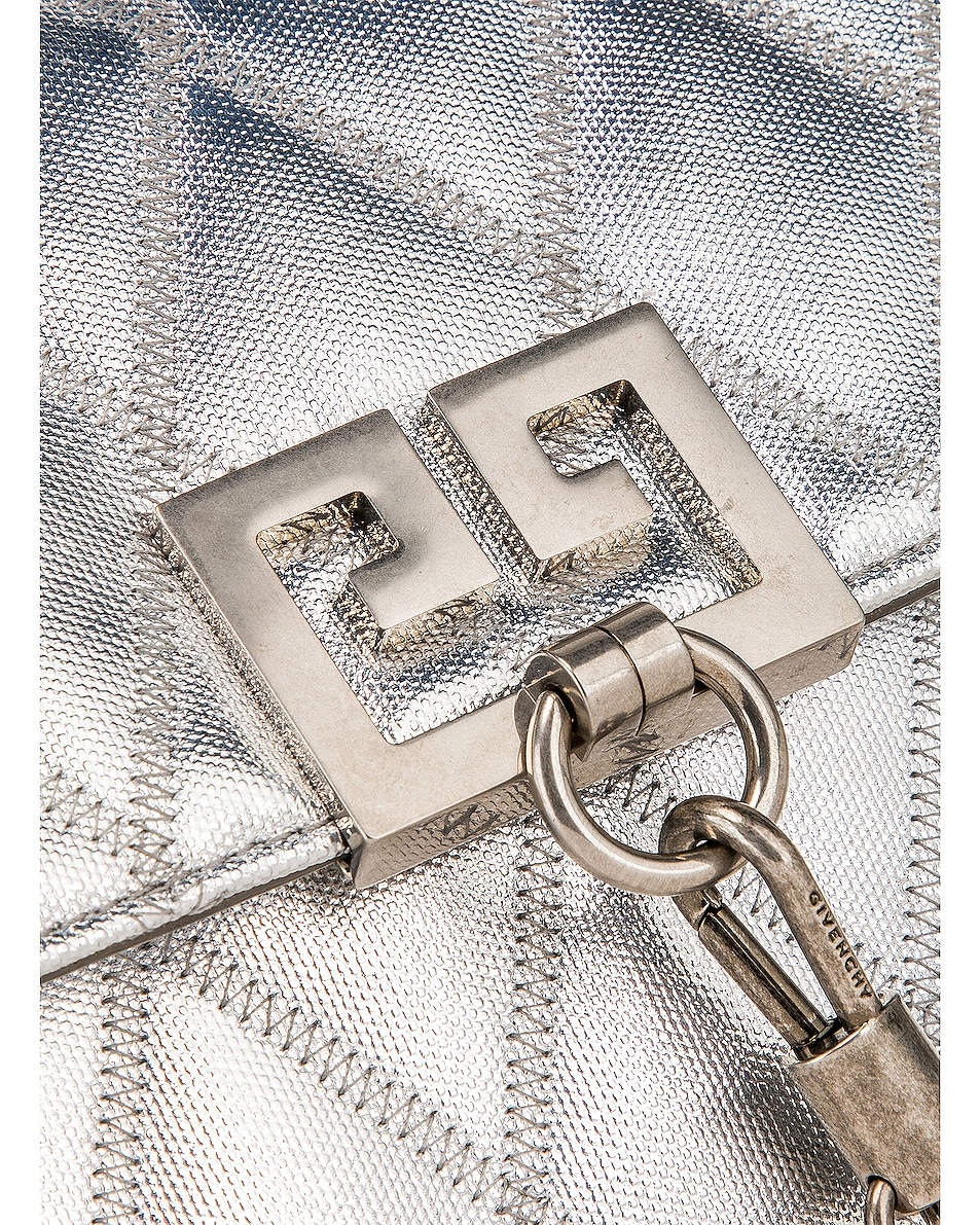 Image 8 of Givenchy Small Charm Shoulder Bag in Silver