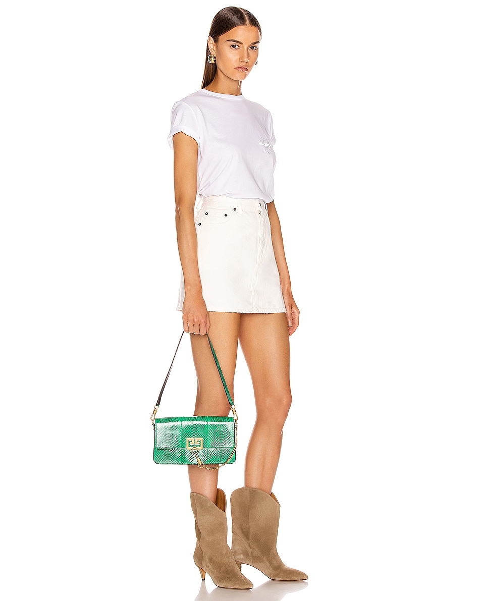 Image 2 of Givenchy Small Charm Shoulder Bag in Green