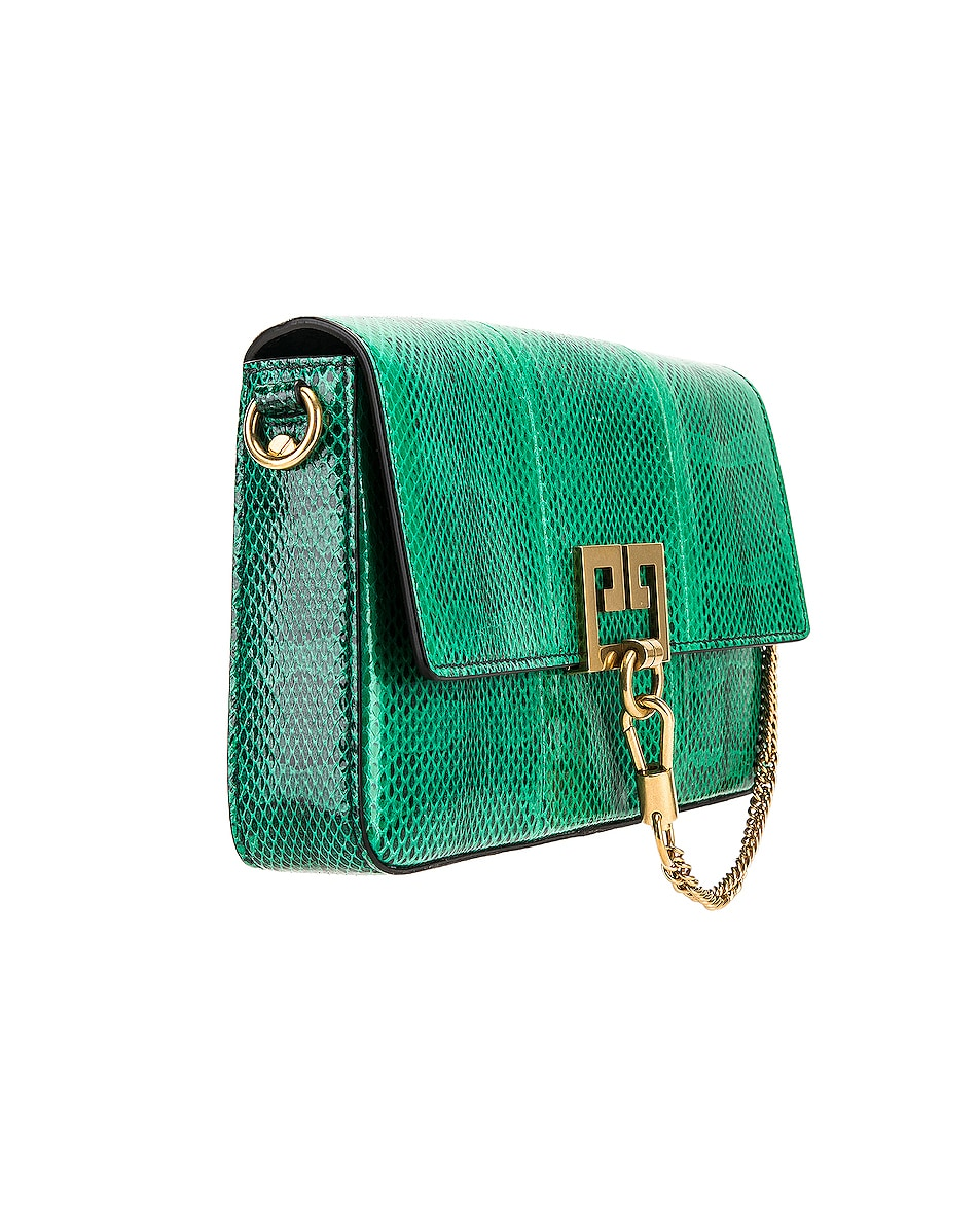 Image 4 of Givenchy Small Charm Shoulder Bag in Green