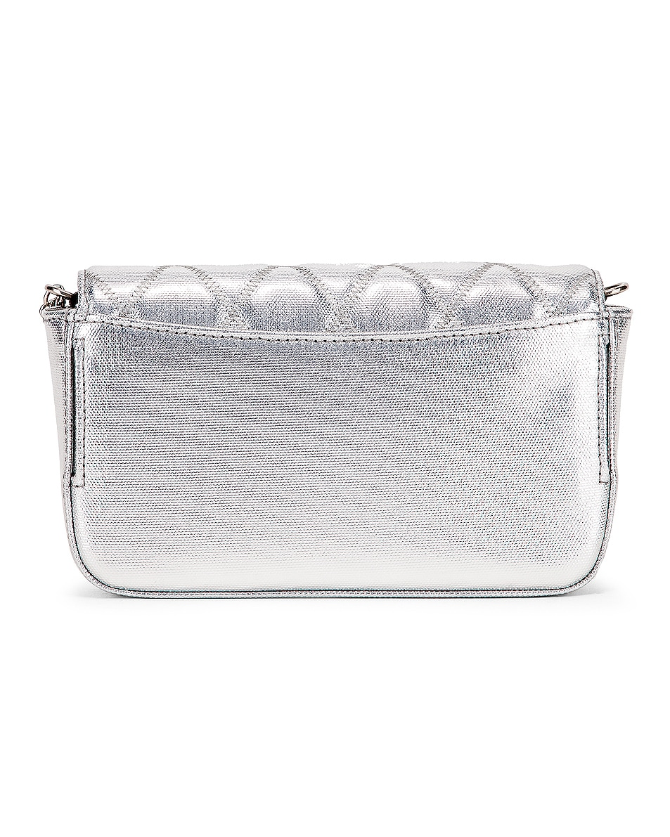 Image 3 of Givenchy Metallic Mini Pocket Chain Bag in Silver