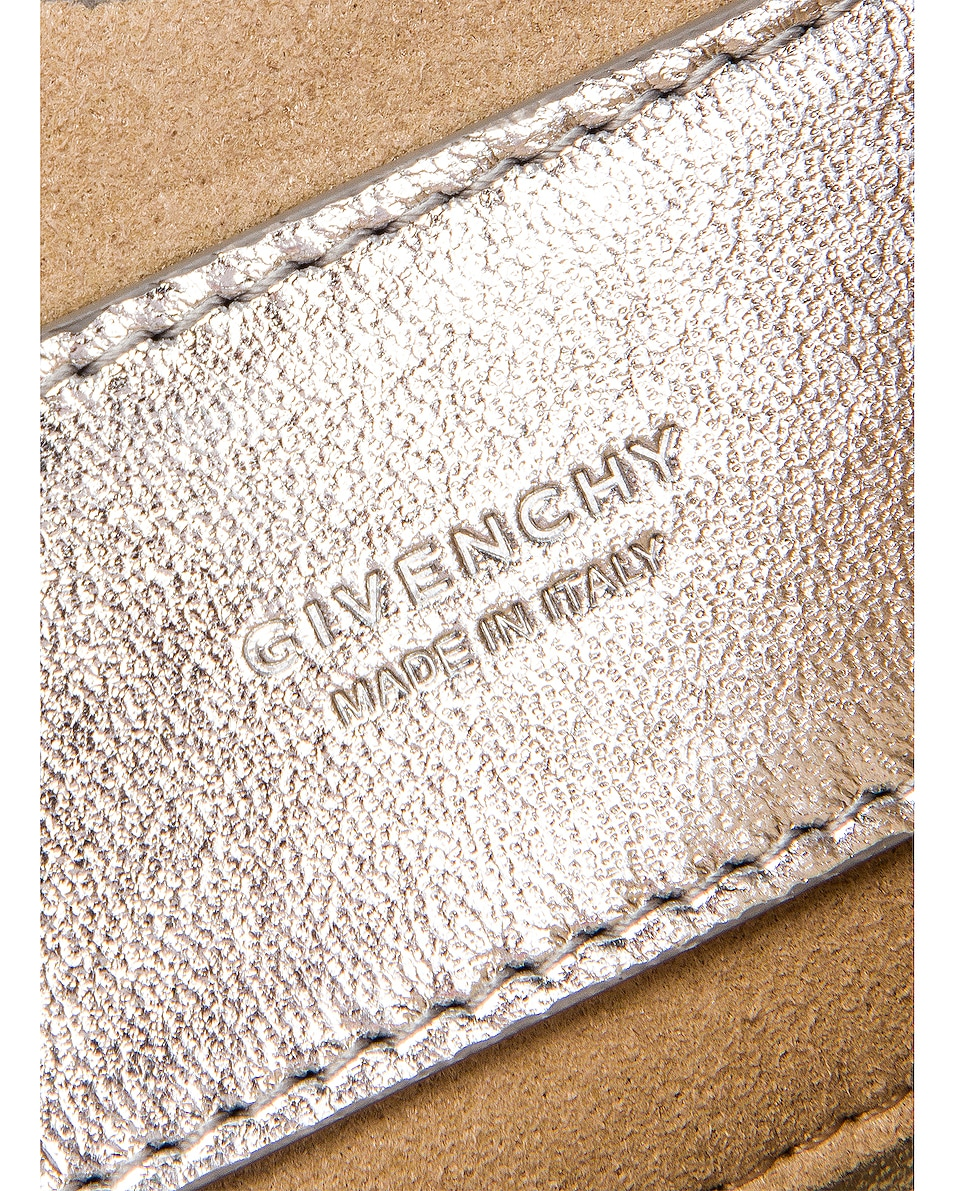 Image 7 of Givenchy Metallic Mini Pocket Chain Bag in Silver