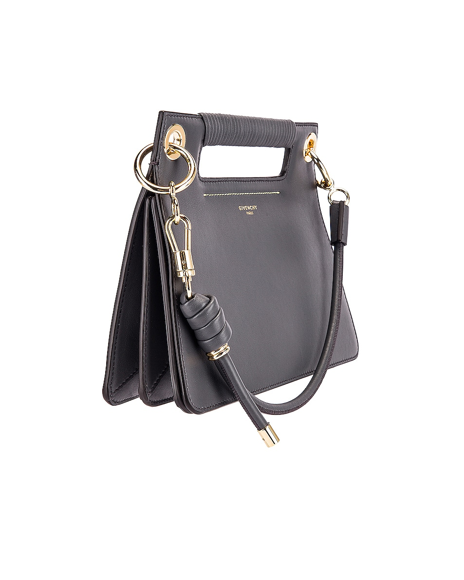 Image 4 of Givenchy Contrast Small Whip Bag in Storm Grey