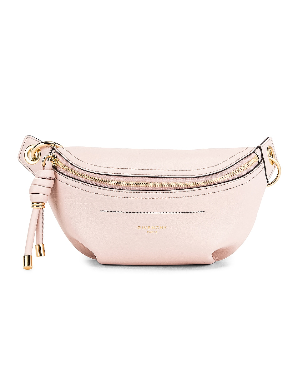 Image 1 of Givenchy Contrast Mini Whip Belt Bag in Pale Pink