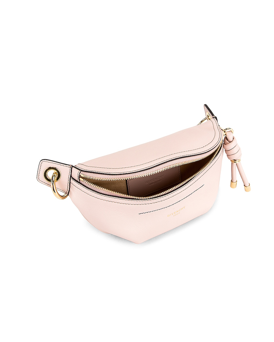 Image 5 of Givenchy Contrast Mini Whip Belt Bag in Pale Pink