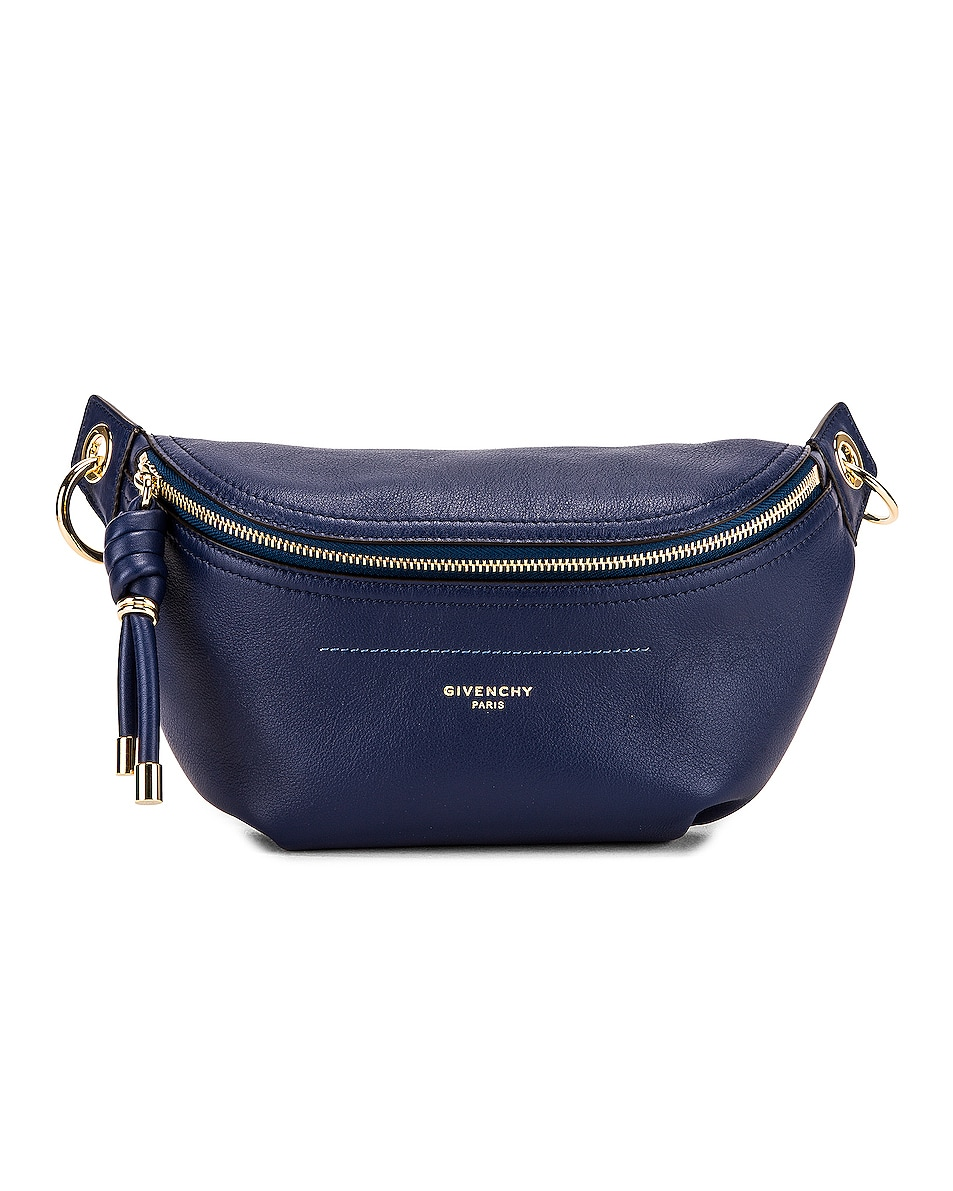 Image 1 of Givenchy Contrast Chain Whip Belt Bag in Royal Blue