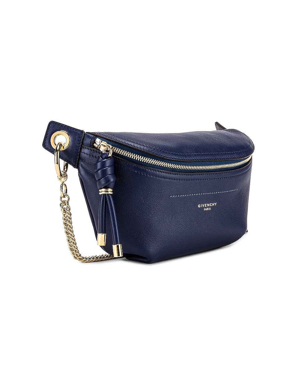 Image 4 of Givenchy Contrast Chain Whip Belt Bag in Royal Blue