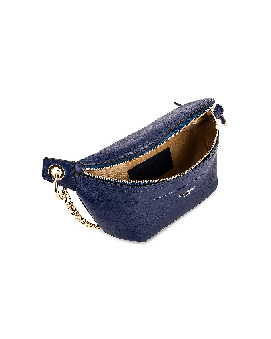 Image 5 of Givenchy Contrast Chain Whip Belt Bag in Royal Blue
