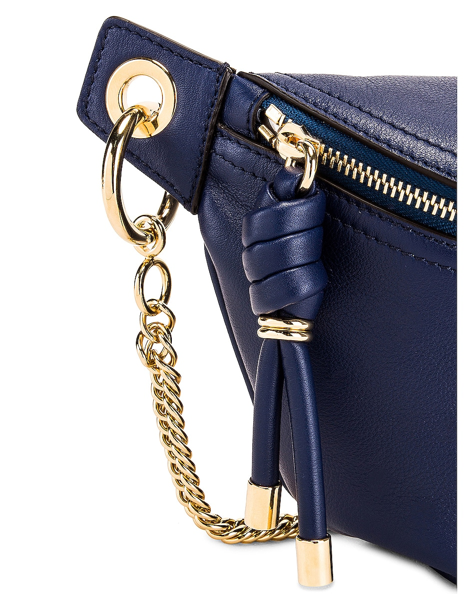 Image 7 of Givenchy Contrast Chain Whip Belt Bag in Royal Blue