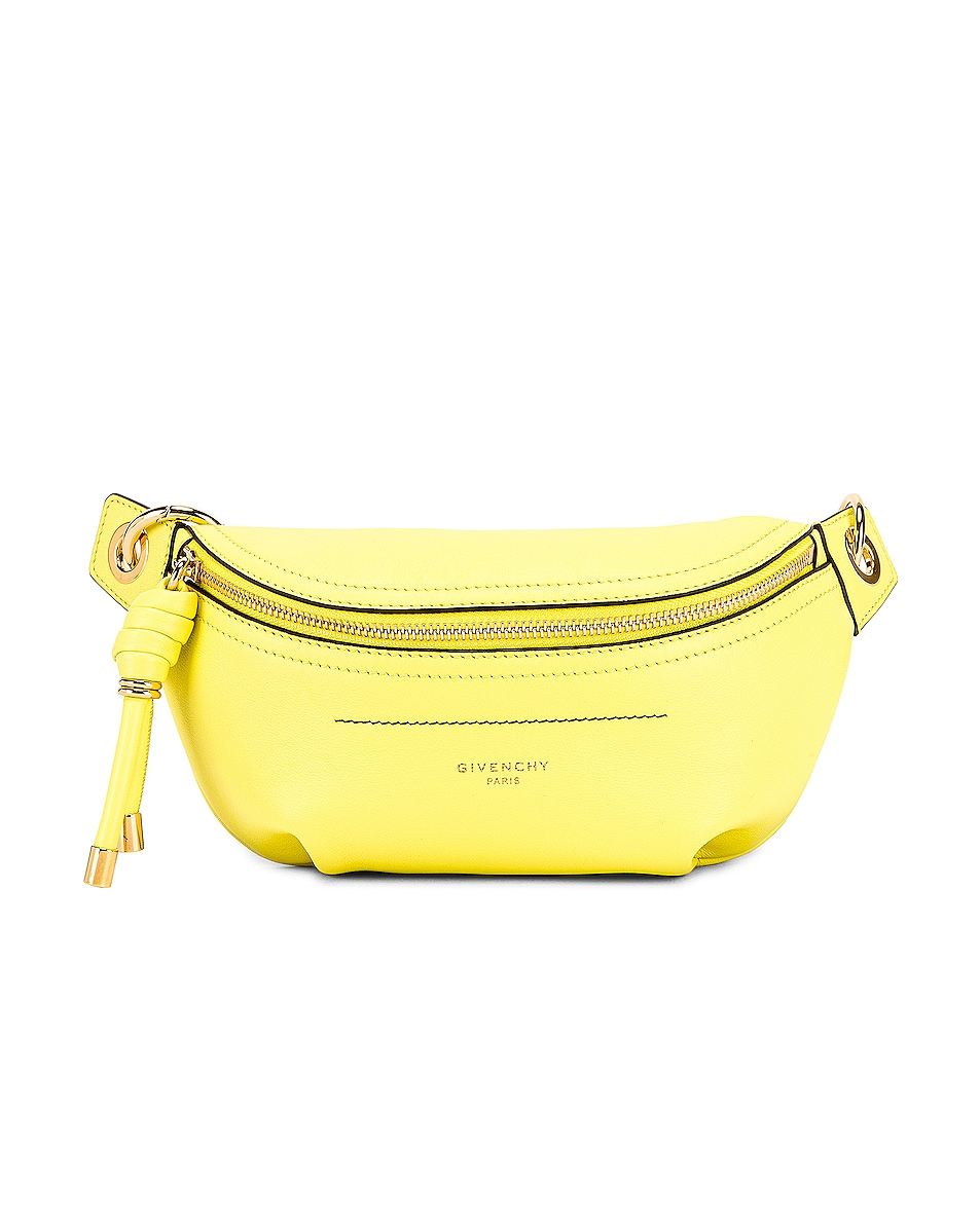 Image 1 of Givenchy Contrast Mini Whip Belt Bag in Fluo Yellow