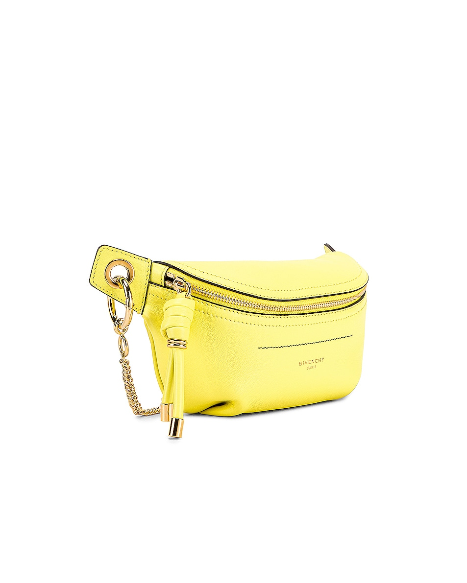 Image 4 of Givenchy Contrast Mini Whip Belt Bag in Fluo Yellow