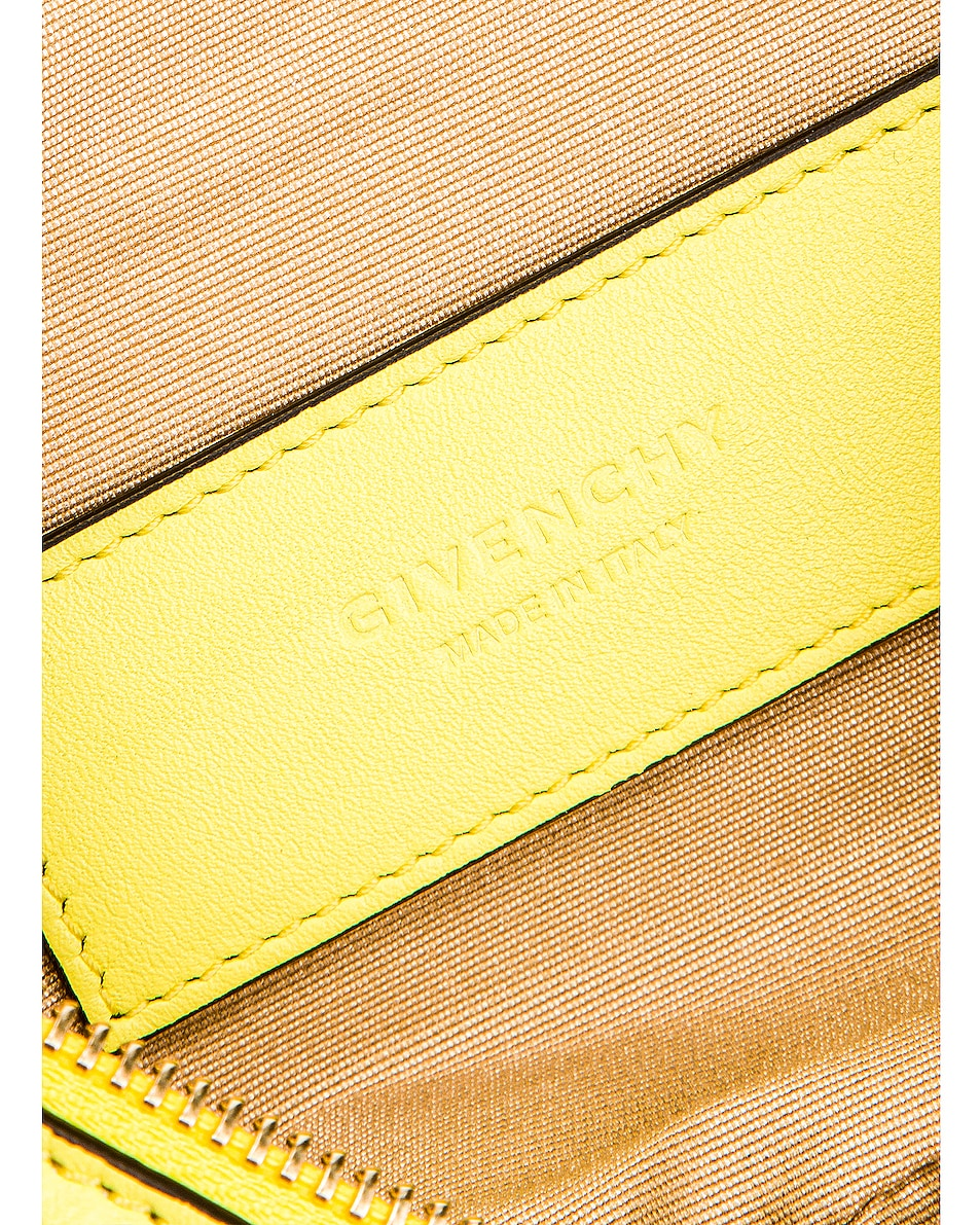 Image 6 of Givenchy Contrast Mini Whip Belt Bag in Fluo Yellow