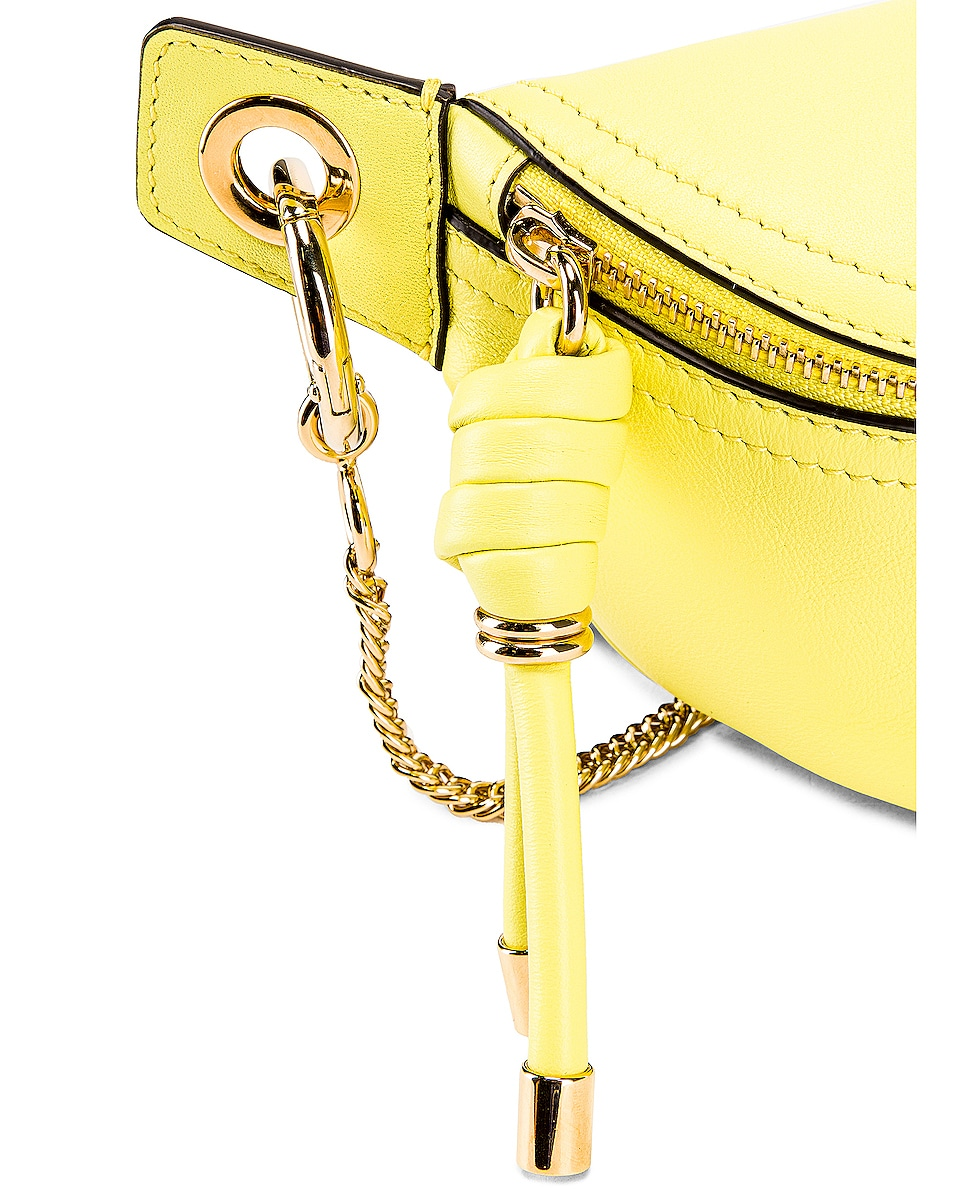 Image 7 of Givenchy Contrast Mini Whip Belt Bag in Fluo Yellow