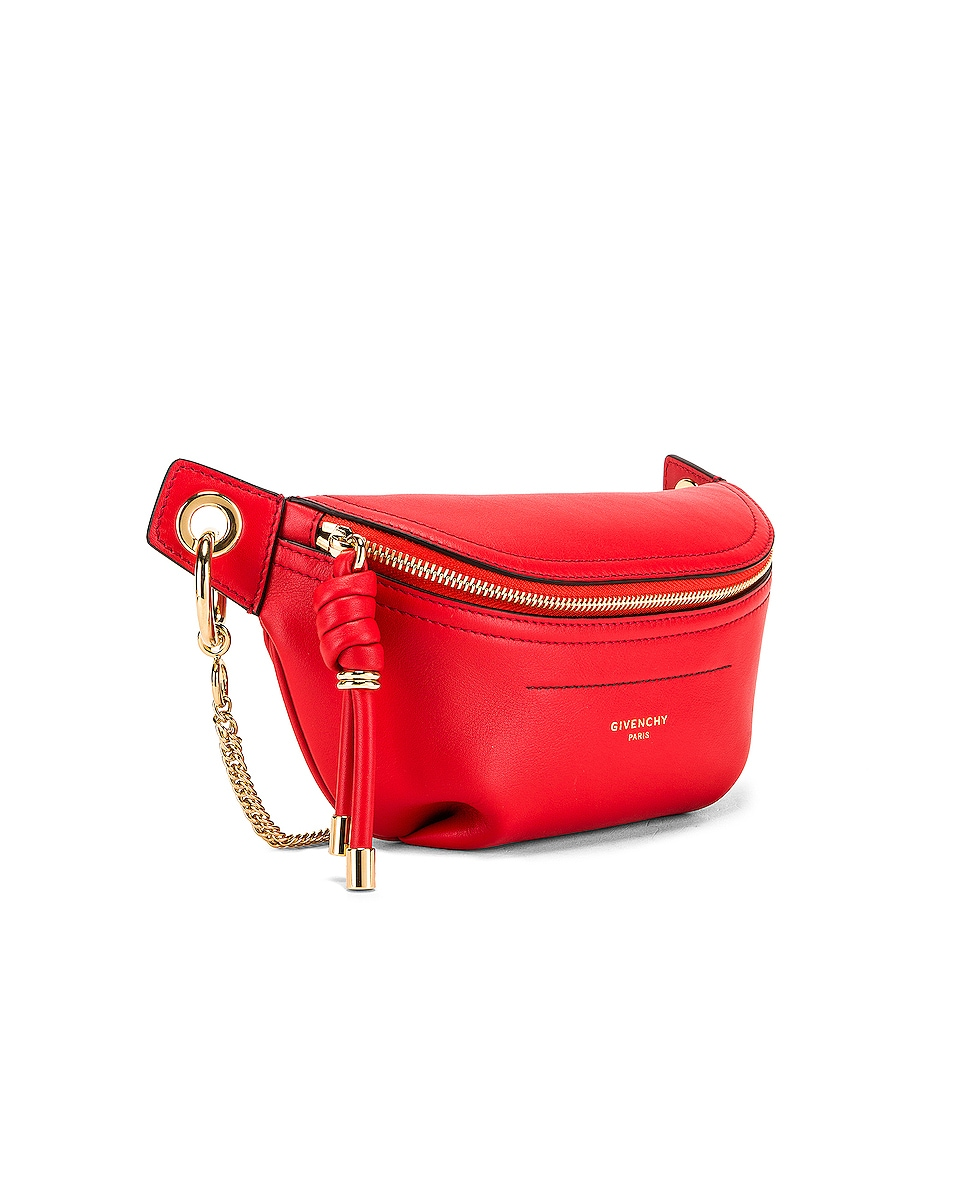Image 3 of Givenchy Contrast Mini Whip Belt Bag in Poppy Red