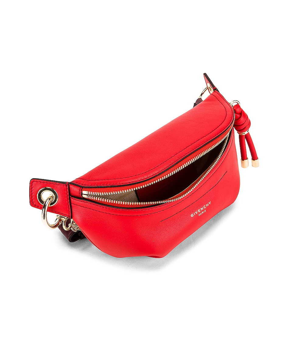 Image 4 of Givenchy Contrast Mini Whip Belt Bag in Poppy Red