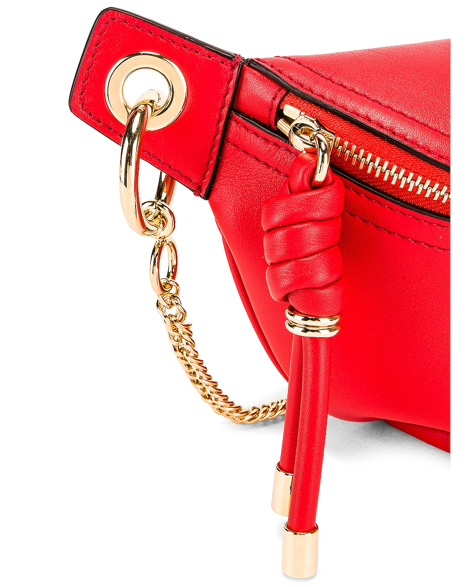 Image 6 of Givenchy Contrast Mini Whip Belt Bag in Poppy Red