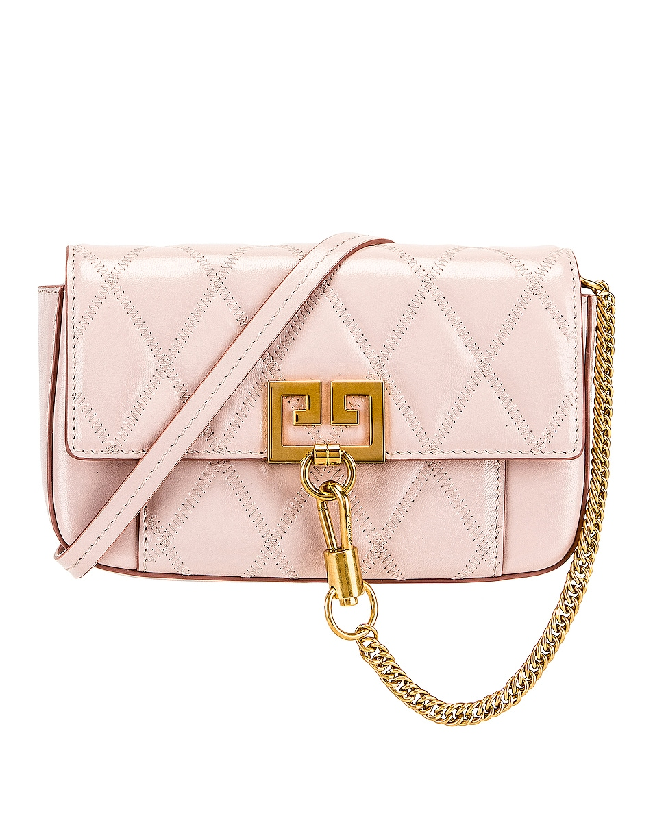 Image 1 of Givenchy Mini Pocket Chain Bag in Pale Pink