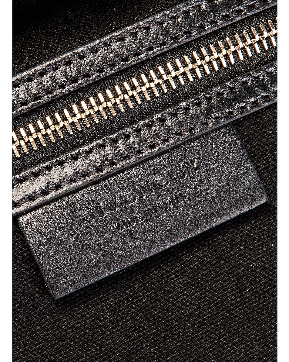 Image 7 of Givenchy Small Crocodile Embossed Antigona in Black