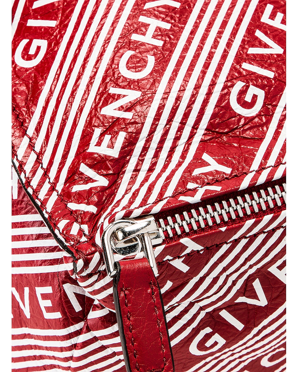 Image 6 of Givenchy Logo Band Small Pandora in Vermillion
