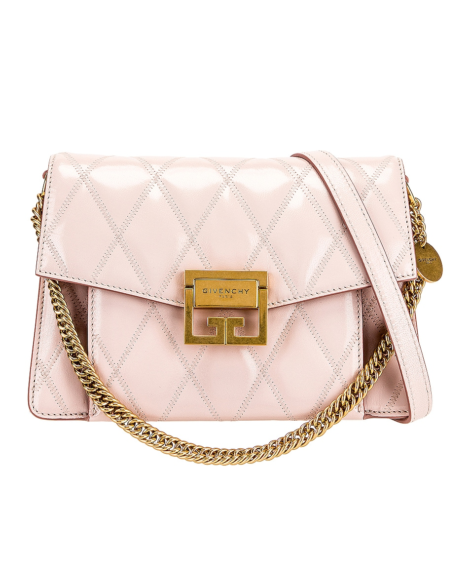 Image 1 of Givenchy Small Quilted Leather GV3 in Pale Pink