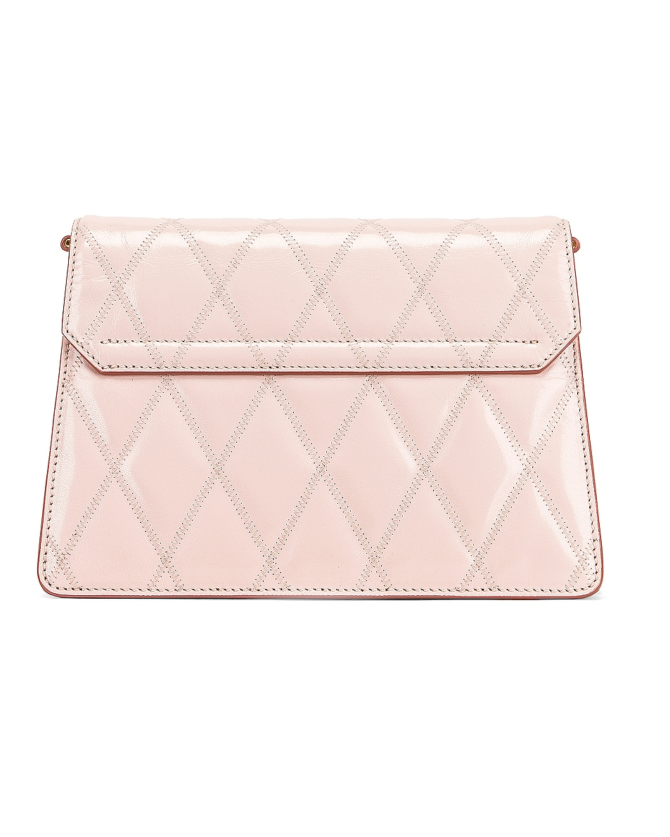 Image 3 of Givenchy Small Quilted Leather GV3 in Pale Pink