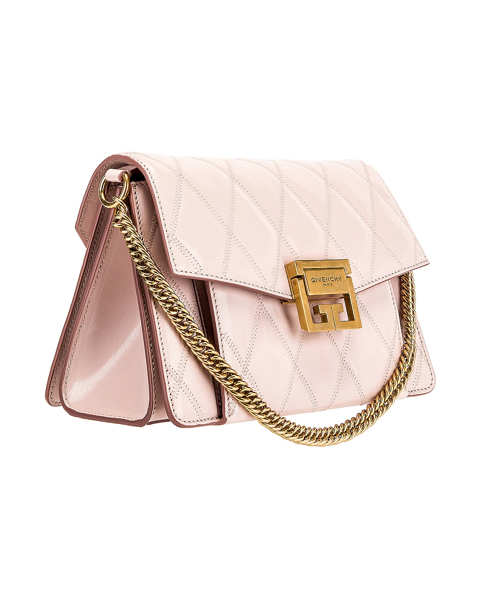 Image 4 of Givenchy Small Quilted Leather GV3 in Pale Pink