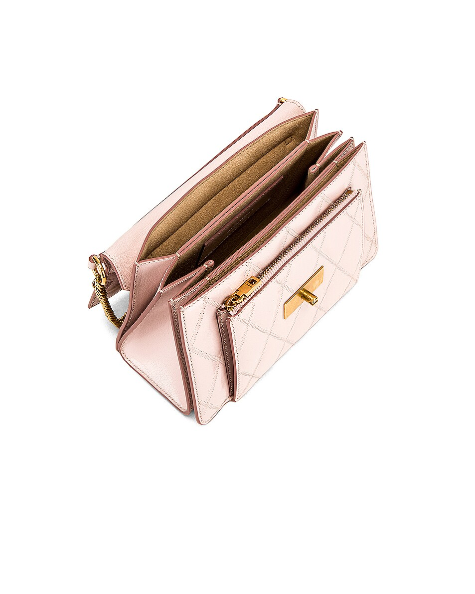 Image 5 of Givenchy Small Quilted Leather GV3 in Pale Pink