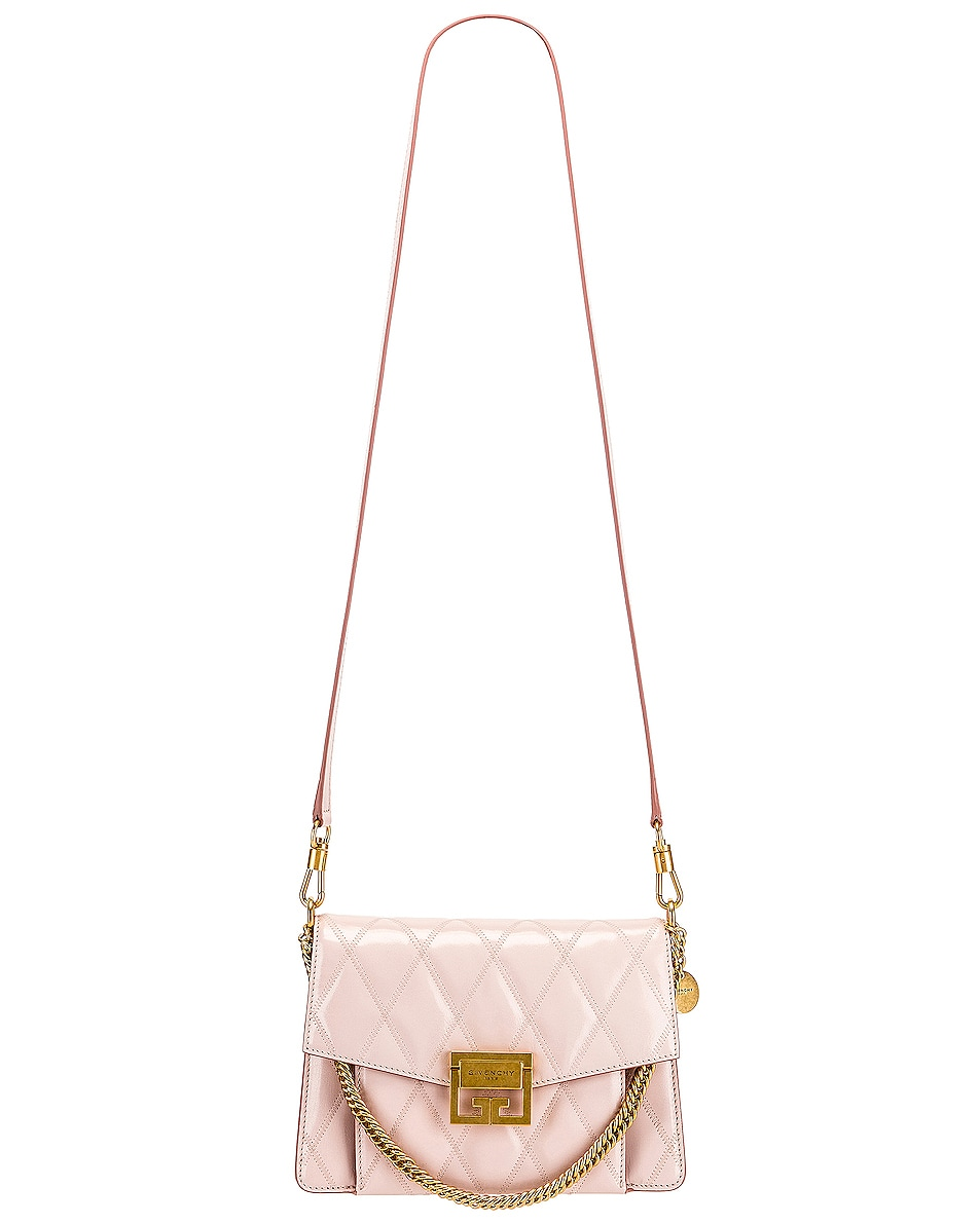 Image 6 of Givenchy Small Quilted Leather GV3 in Pale Pink