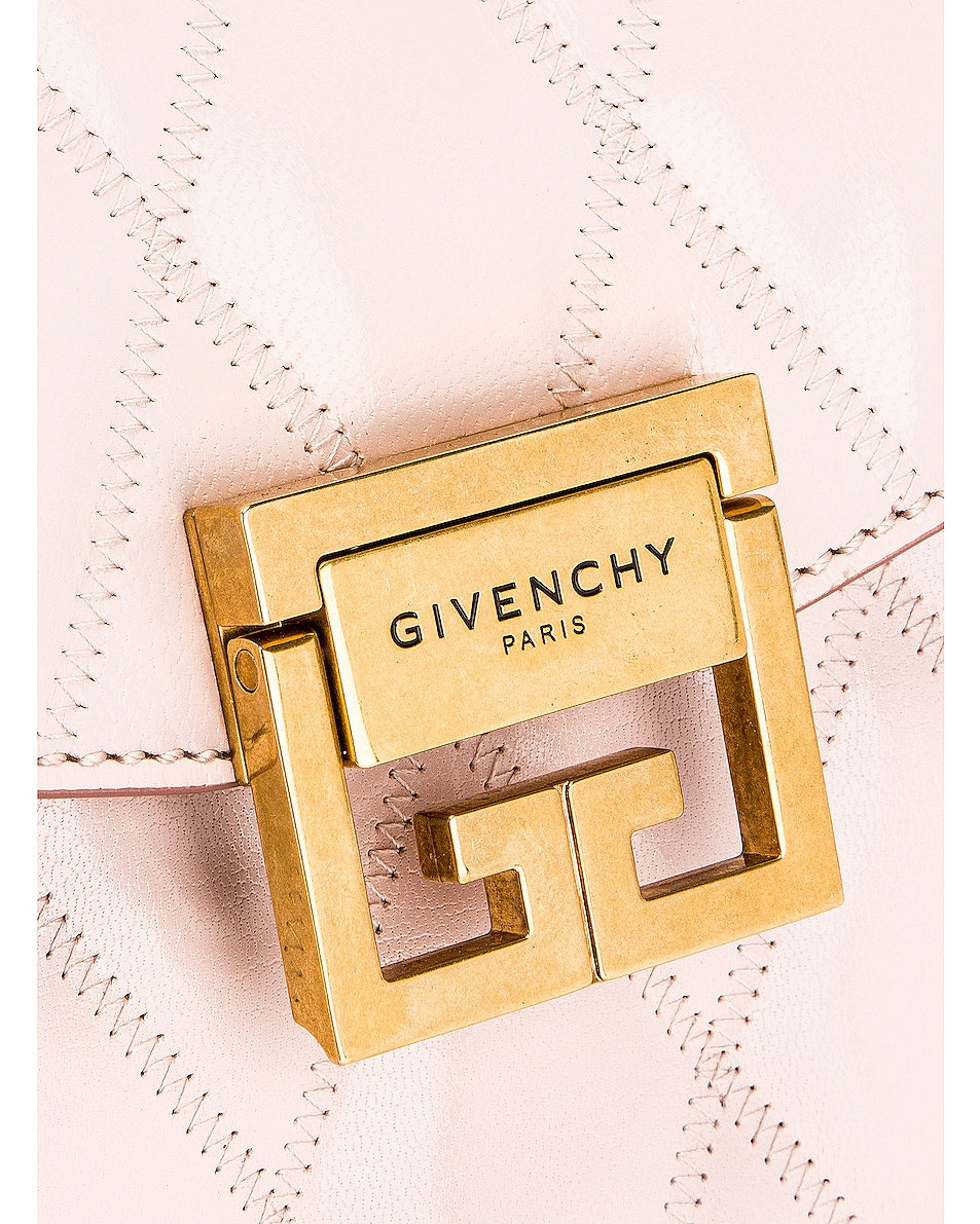 Image 8 of Givenchy Small Quilted Leather GV3 in Pale Pink