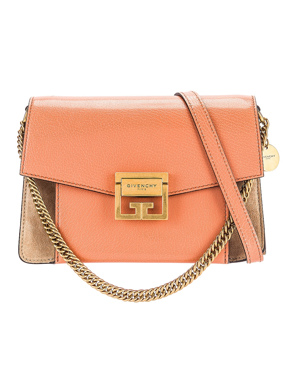 Image 1 of Givenchy Small Leather GV3 in Pale Coral & Taupe