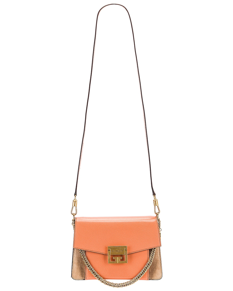 Image 6 of Givenchy Small Leather GV3 in Pale Coral & Taupe