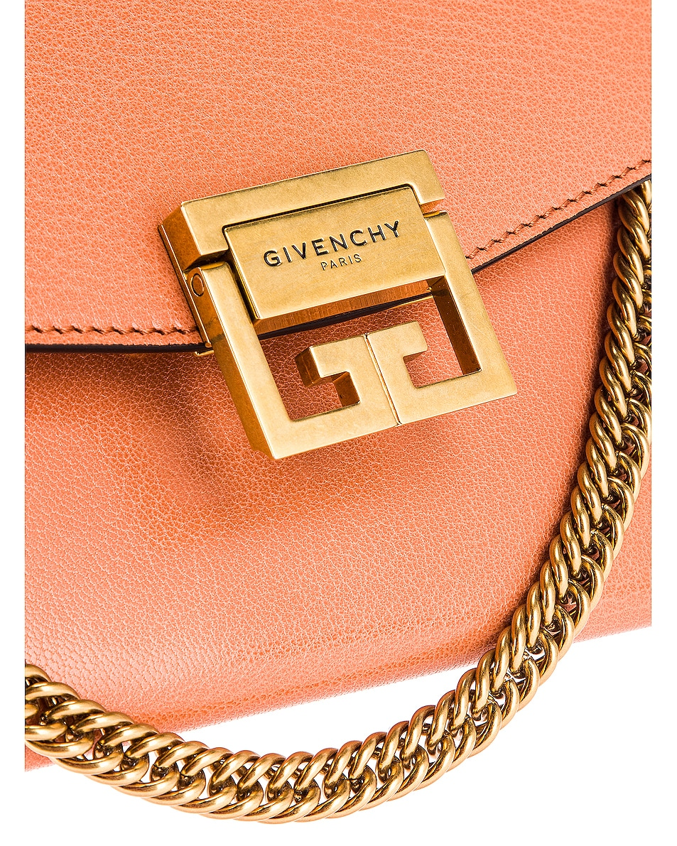 Image 8 of Givenchy Small Leather GV3 in Pale Coral & Taupe