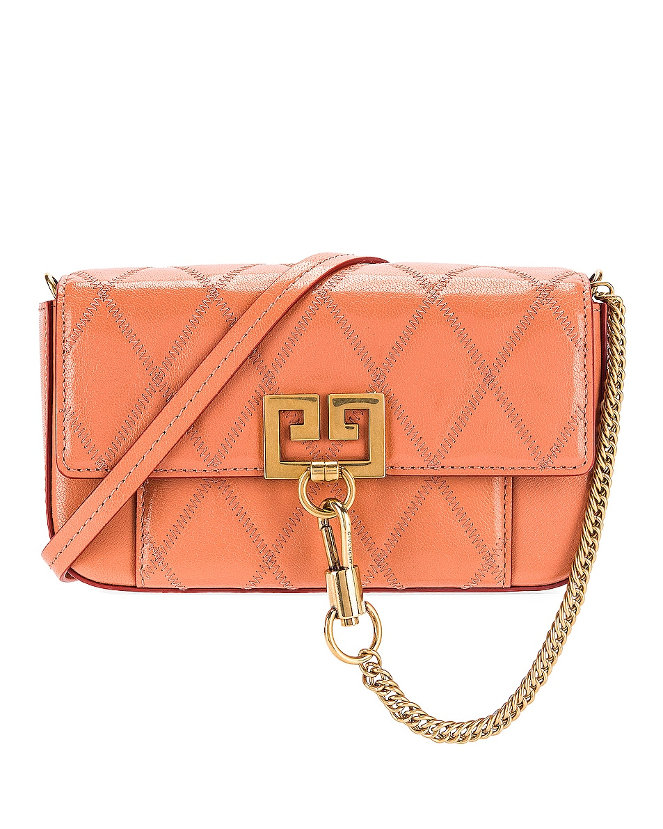 Image 1 of Givenchy Mini Pocket Chain Bag in Pale Coral