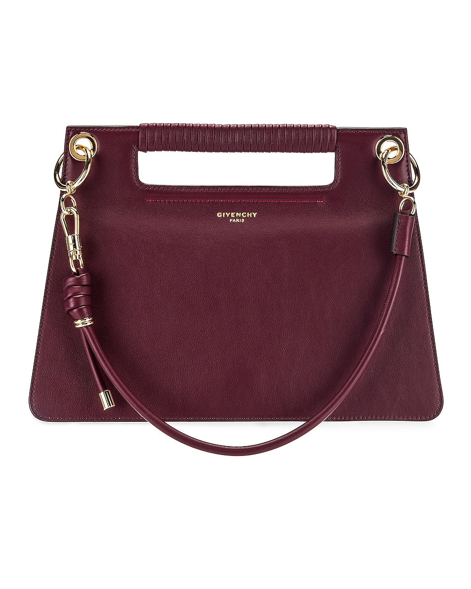 Image 1 of Givenchy Contrast Medium Whip Bag in Aubergine