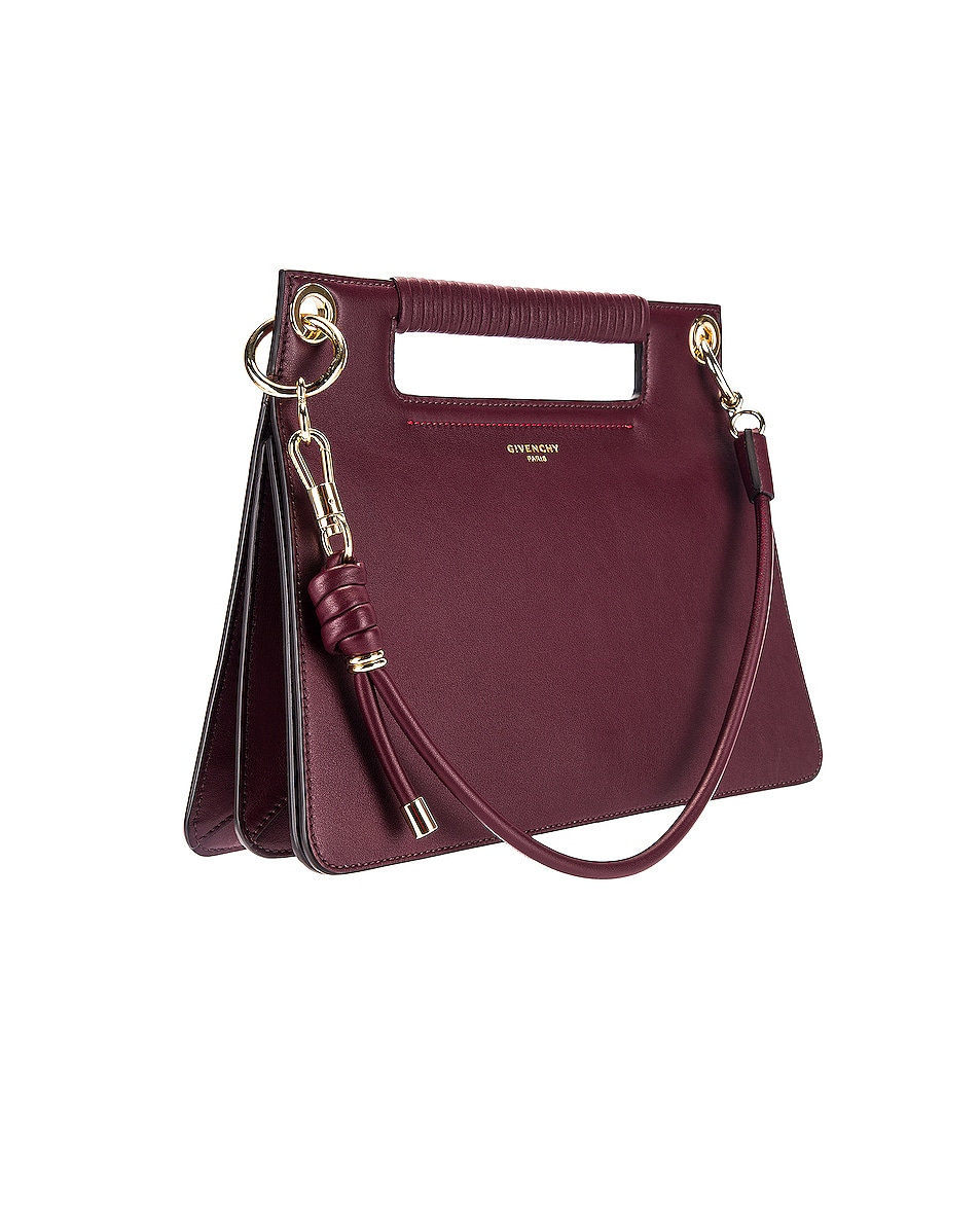 Image 4 of Givenchy Contrast Medium Whip Bag in Aubergine