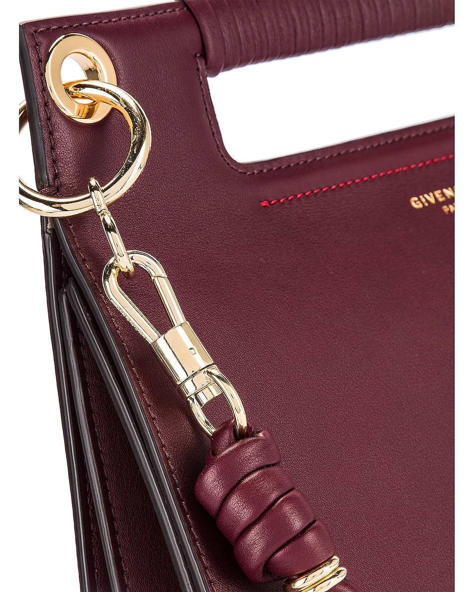 Image 8 of Givenchy Contrast Medium Whip Bag in Aubergine