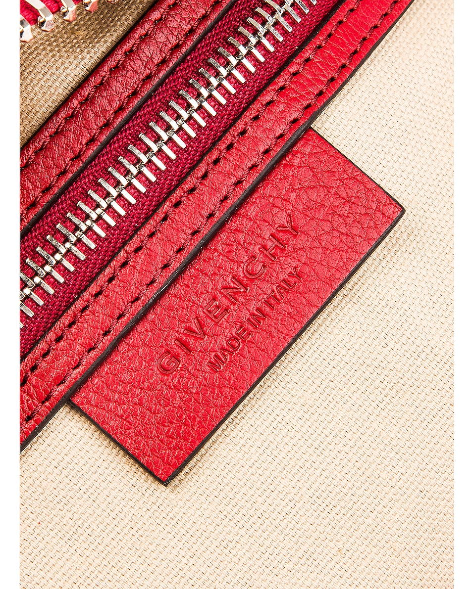 Image 7 of Givenchy Mini Sugar Antigona in Vermillion