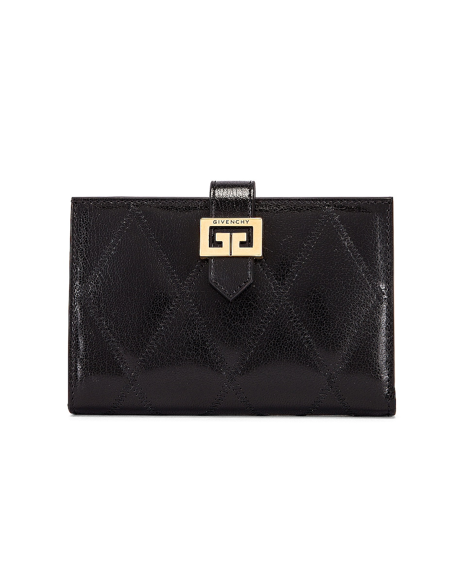 Image 1 of Givenchy Medium GV3 Bifold Wallet in Black