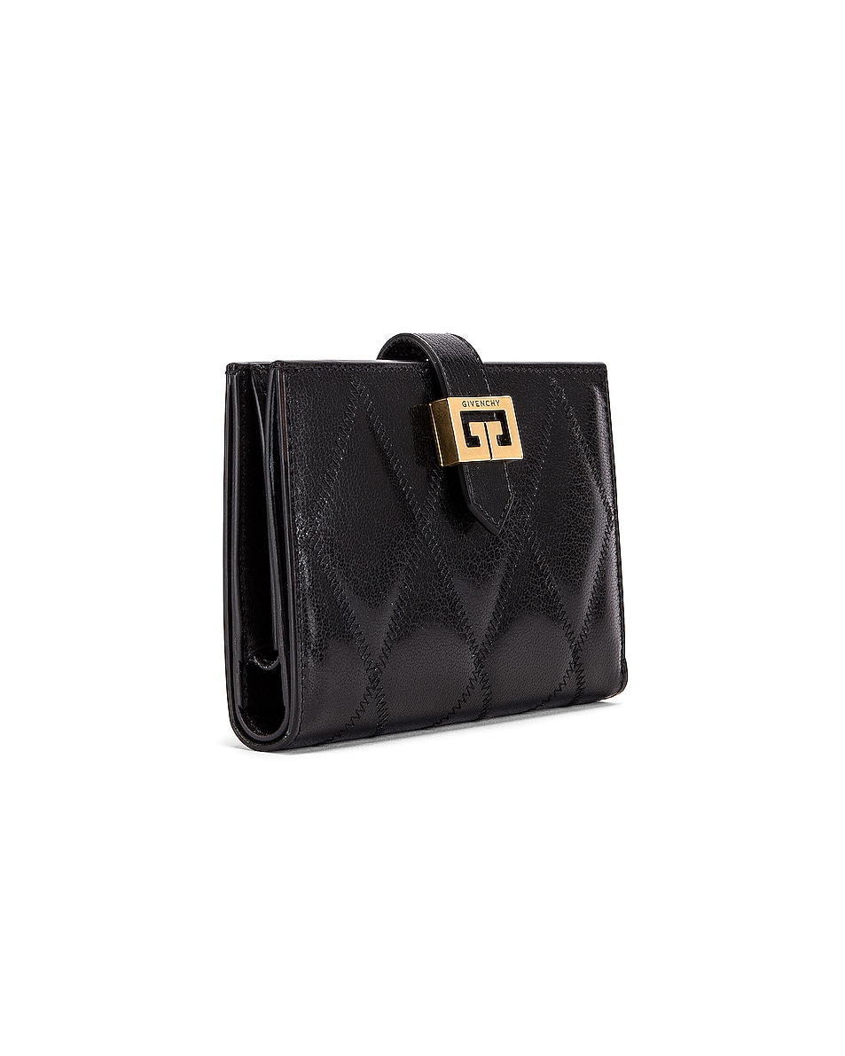 Image 3 of Givenchy Medium GV3 Bifold Wallet in Black